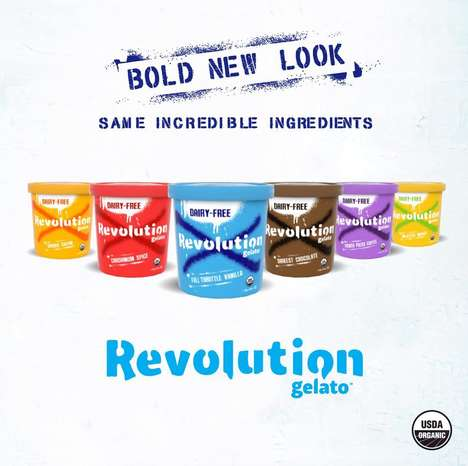 Vegan-Friendly Gelato Desserts - Revolution Gelato Created a Bold New Look for Its Dairy-Free Gelato