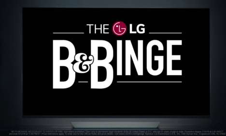 Immersive Binge-Watching Retreats - LG and Netflix's 'B&Binge' Stays are Styled Like Favorite Shows
