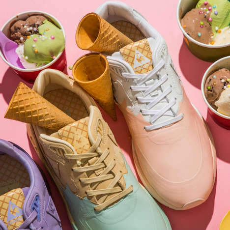 Colorful Ice Cream-Inspired Sneakers