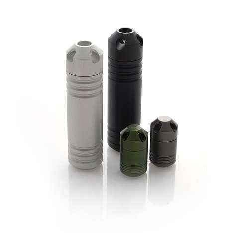 Anodized Aluminum Carrying Capsules