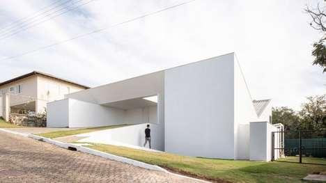 All-White Angular Homes