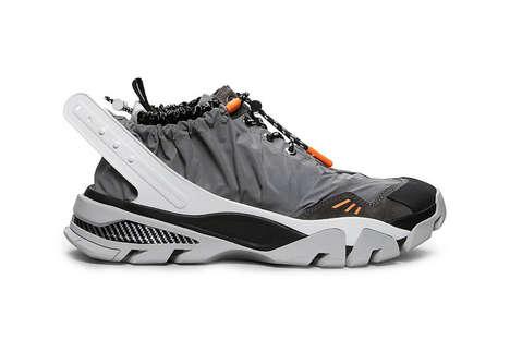 Drawstring-Enclosed Sneakers