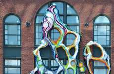 Biomorphic Interior-Exterior Installations - Crystal Wagner's Art Has a Hybrid Construction Approach