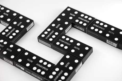 Game Piece-Inspired Packaging - The White Sorbent Extra Branding is Inspired by the Domino Effect