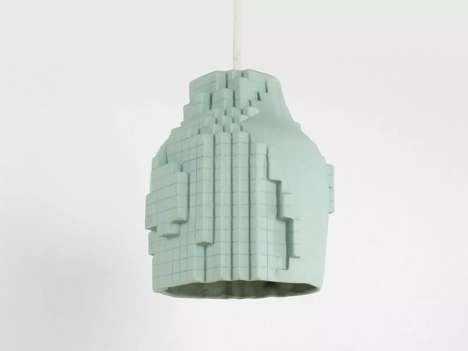 Tech-Themed Lighting Decor - Studio Lorier's Pixel Pendant Lamp is Inspired by Distorted Graphics