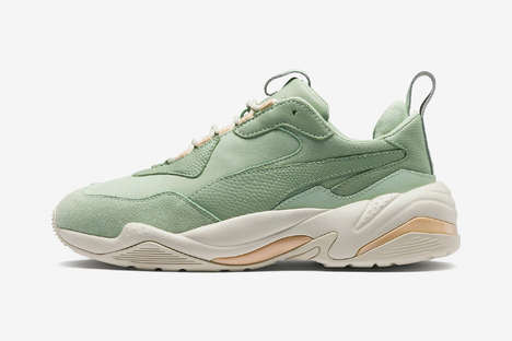 Pastel Monochromatic Sneakers - PUMA's Thunder Desert are Casual, Sleek and Aesthetically Elevated