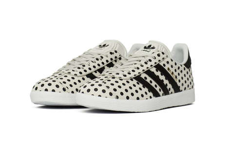 Whimsical Polka-Dot Sneakers - adidas' Latest Gazelle Silhouette is Covered in Dots