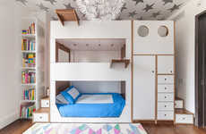 Organized Smart Storage Beds - Casa Kids Creates Modern Furniture for Children with a Lot of Things