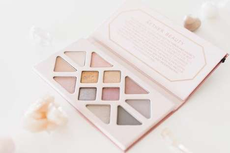 Waste-free Eyeshadow Palettes - Aether Beauty's New Eyeshadows Come in Recycled Paper Packaging