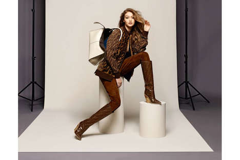 Celebrity-Fronted Designer Editorials - The New Fendi Campaign Features Adwoa Aboah and Gigi Hadid