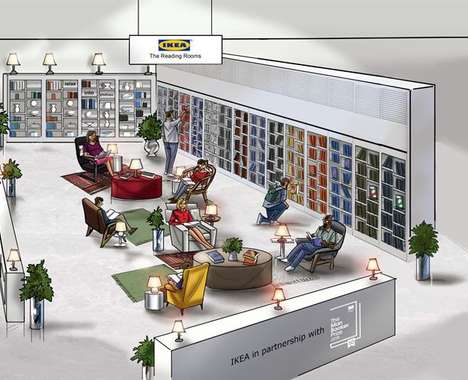 Trend maing image: In-Store Reading Lounges
