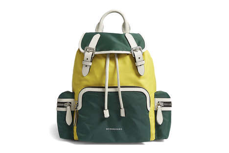 Luxe Color-Blocked Backpacks