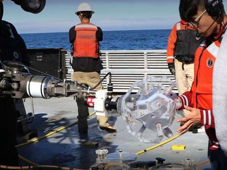 Origami-Inspired Underwater Robots - The Rotary Actuated Dodecahedron Safely Captures and Releases