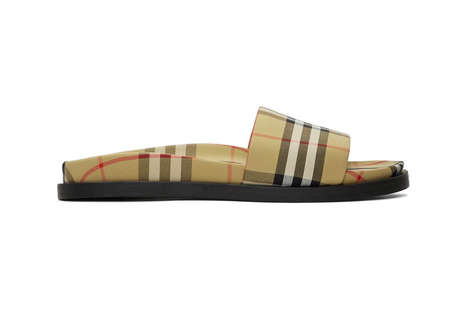 Luxe Checkered Slides