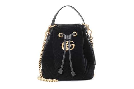 Gold-Embellished Bucket Bags