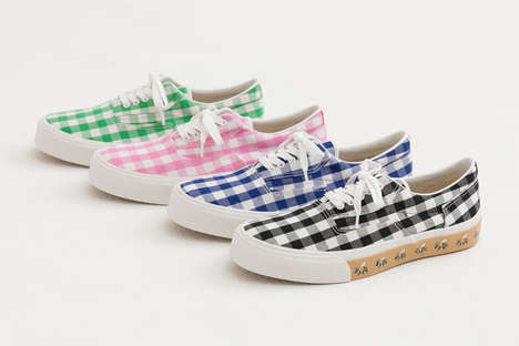 Gingham-Printed Canvas Shoes - HUMAN MADE and SEVEN Collaborated on a Pack of Deck Shoes