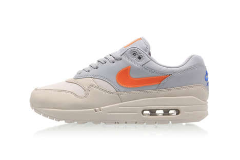Raised Orange-Accented Sneakers - Nike's Orange Air Max 1 Boasts a Chunky Build and Colorful Hues