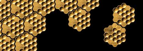 Honeycomb-Shaped Coins - Arthur Analts Designed the Honey Coin to Honor Latvian Sustainability