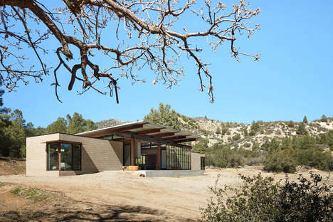 Self-Sufficient Desert Retreats - The Sawmill House is a Luxe Sustainable Structure in Tehachapi