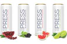 Sparkling Low-Alcohol Refreshments - The PRESS Premium Alcohol Seltzer is Free of Artificial Colors