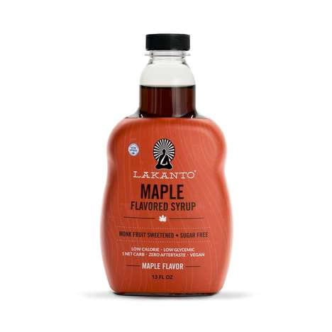 Maple-Flavored Syrups - Lakanto's Sugar-Free Maple Syrup Alternative is Made with Monk Fruit