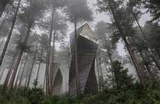 Bio-Mimicking Concept Homes - The 'Helix' Treehouse Blends in Amongst Tall Trees