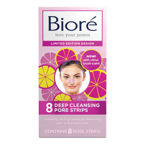 Scented Pore Strips - Bioré's Limited-Edition Deep Cleaning Pore Strips Boast a Light Citrus Scent
