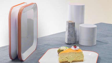 Space-Saving Eco Dinnerware