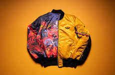 Movie-Inspired Bomber Jackets - Hasbro and Alpha Industries Introduce The Bumblebee Flight Jacket