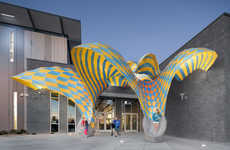 Colorfully Curved Installations - The Very Many Create a Lightweight Pavilion for a Leisure Center