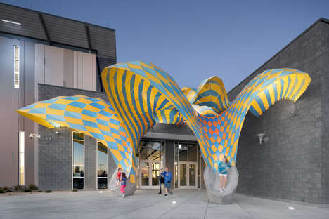 Colorfully Curved Installations