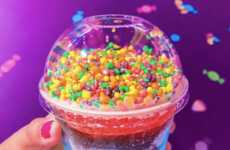 Rainbow Candy-Topped Slushies