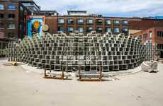 Architecturally Unzipped Pavilion Structures - Westbank & BIG Revive a Visually Stimulating Piece