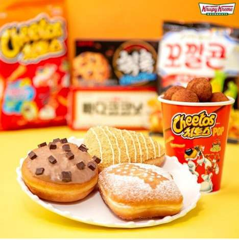 Snack Food-Inspired Savory Donuts - Krispy Kreme's Cheetos Pops Taste Like Smokey Barbecue