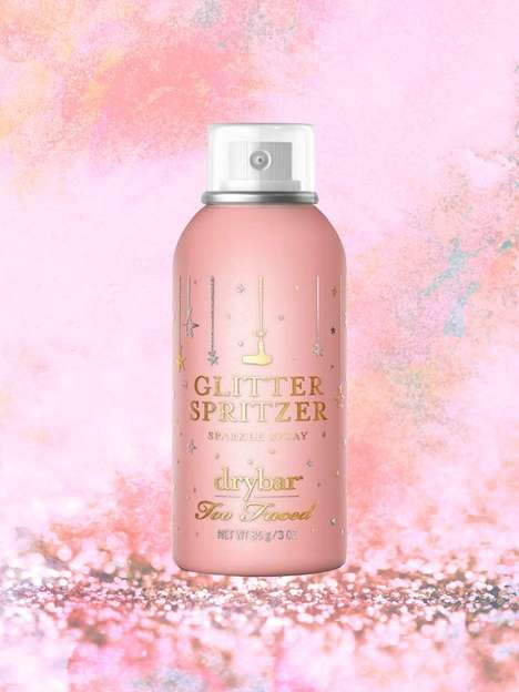 Collaborative Glitter Hairsprays - The Too Faced Glitter Spritzer Celebrates a 20th Anniversary