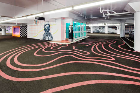 Sizable Garage Art Installations - CYRCLE Paints Vivid Murals in an Underground Garage in Montréal