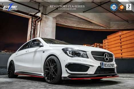 Carbon Fiber Car Kits - RevoZport's Mercedes Performance CLA Aerokit Offers Carbon Fiber Styling