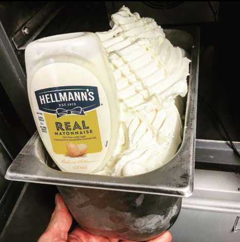 Creamy Mayonnaise Ice Creams - ICE Falkirk's New Ice Cream is Made with Hellman's Real Mayonnaise