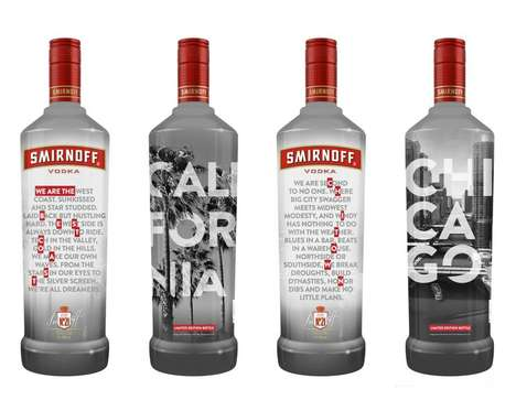 Locally-Inspired Vodka Bottles