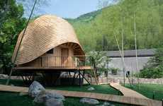 Circular Chinese Abodes - This Rural Vacation House Has a Breathtakingly Designed Undulating Roof