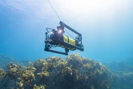 Futuristic Underwater Camera Drones