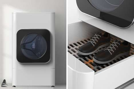 Footwear-Freshening Washing Machines