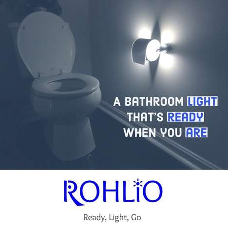 Toilet Paper Nightlights - The 'Rohlio' Nightlight Seamlessly Fits into Your Bathroom Decor