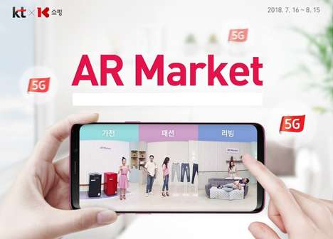 Mobile AR Stores - KT's 'AR Market' Enhances Mobile Shopping with Augmented Reality Features
