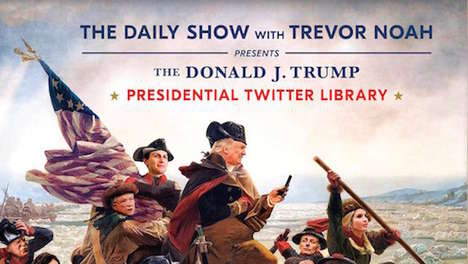 Humorous Politically Oriented Books - Donald Trump's Tweets are Commemorated by the Daily Show