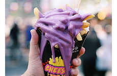 Purple Cheese-Topped Fries