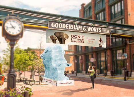 Charitable Elephant Ice Sculptures
