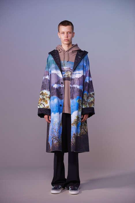 Graphic-Heavy Lightweight Outerwear