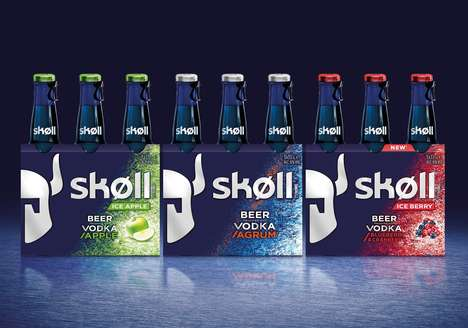 Vodka-Flavored Beer Beverages - Skøll's Refreshed Branding Expresses Its Nordic Spirit