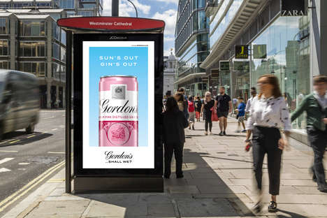 Responsive Alcohol Ads - Diageo's Responsive Ads Change Based on the Weather and Time of Day